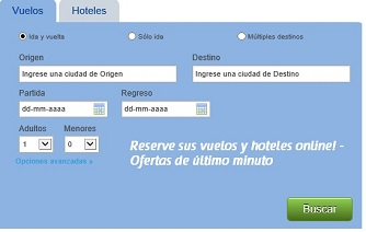 Reserve your air tickets in Colombia (in spanish)